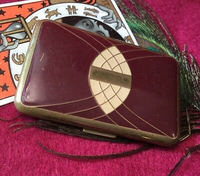 Vintage Art Deco Collectable Richard Hudnut enamel Triple Vanity Powder compact