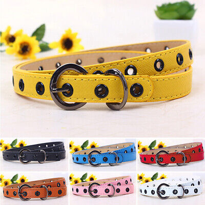 Toddler Waistband Kids Candy Color Belt PU Leather Girls Accessories Useful New
