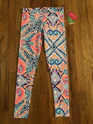 NWT Lilly Pulitzer Girls Maia Leggings Pants Solar Opposite Reduced XL 12 14 NEW