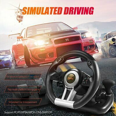 PXN V3II Racing Game Lenkrad mit Bremspedal für PC/PS3/PS4/XBOX ONE/SWITCH new