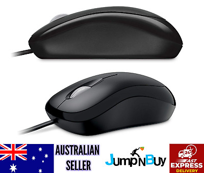 Microsoft Wired Optical Mouse Basic Business Mobile PC USB Mice Laptop