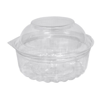 250x Show Bowl Dome Clear PET 8oz/235mL Disposable Container Takeaway Food