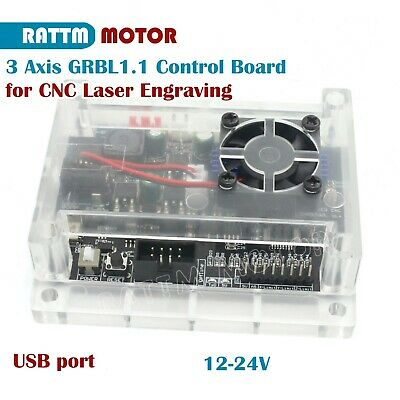 3 Axis Control Board Controller for CNC Laser Engraving 12-24V 1.1F GRBL Board