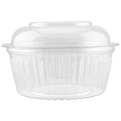 150x Show Bowl Dome Clear PET 48oz/1420mL Disposable Container Takeaway Food