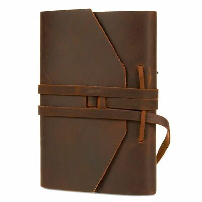 "Faux Leather Vintage Journal Notebook Diary Unlined Travel Writing Notepad 5""x7"""