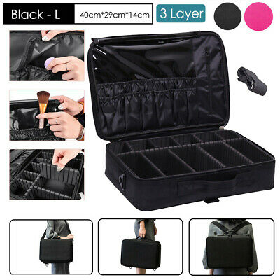 Professional Makeup Bag Portable Cosmetic Case Storage Box Travel  Organiser New