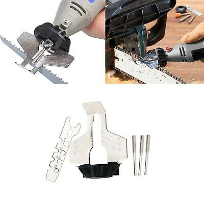 Chain Saw Sharpening Attachment Sharpener Guide Drill Adapter Head Ruler - Sd