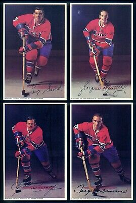 1970'S Pro Star Montreal Canadiens 13 Dif TEAM ISSUE POST CARD NM Lemaire Savard