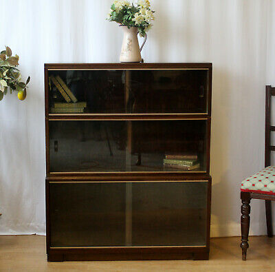 MINTY Retro Vintage Glazed Stacking 3  Sectional Library Bookcase Cabinet
