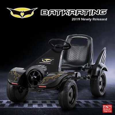 Kids Pedal Powered Go Kart Ride on Toy Cars Racing Cart Bike Rubber Tyre