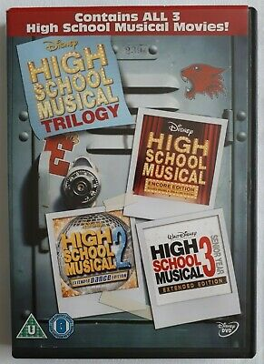 High School Musical Trilogy DVD Rated U Getcha Head In The Game