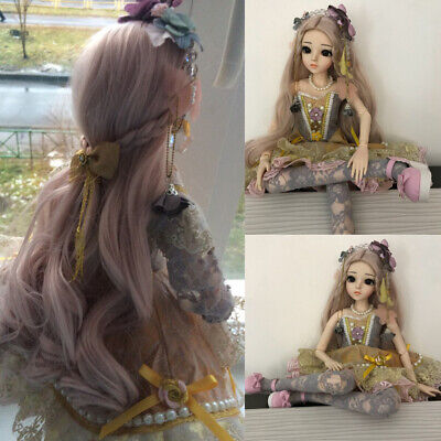 "24/"" BJD 1//3 Ball Jointed Doll Girl Gift Full Set Handpainted Makeup Full Set Toy"