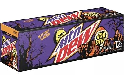 1 12 Pack Cans Mountain Dew MYSTERY Flavor vooDEW Limited Edition