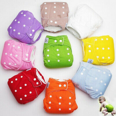 Adjustable Reusable Lot Baby Kids Boy Girls Washable Cloth Diaper Nappies One Y
