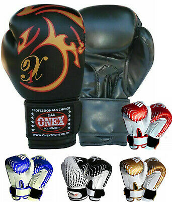 2oz,4oz,6oz Boxing Gloves Punch Bag Training MMA Muay Thai Fight Sparring Pad