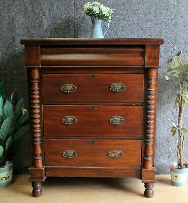 Victorian Scottish Mahogany Large Chest Of Drawers