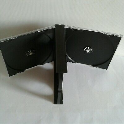 4 Way Cd Jewel Case Black Trays