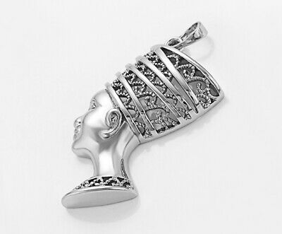 925 Sterling Silver Filled Ancient Egyptian Pharaoh Head Pendant