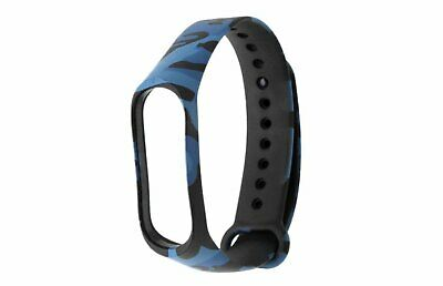 ⭐⭐ ⭐Cinturino Morbido Mimetico Per Xiaomi Mi Band 3 4 Smart Watch  Blue / Black