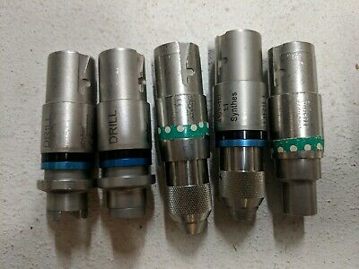 Lot of (5) assorted Stryker Chucks for Drill