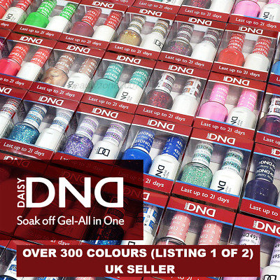 DND Daisy LED/UV Soak Off Nail Gel -Polish Duo - Colours #400-#598 - Top, Base +