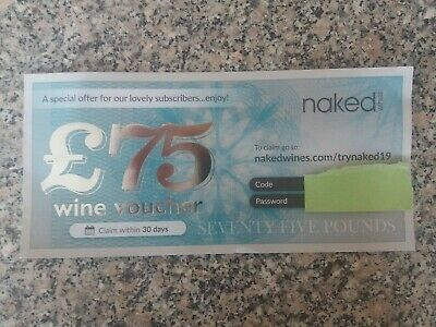 Naked Wine - £75 Wine Voucher cheap price quick transaction code coupon wine