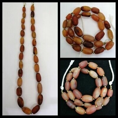 ANCIENT AGATE CARNELIAN PYU CULTURE BOW SHAPE BEAD RARE Roman Agate Beads RARE!!