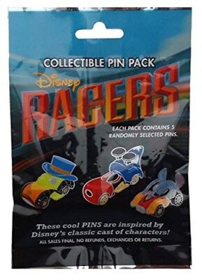 New Sealed~Disney Parks~Collector Pins~Racer Cars Mystery Pack~Set Of 5~Lot~Land