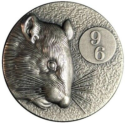 96 RAT- 2 Oz Silver Ultra high relief coins 2020 Niue  Mintage only 96 pcs.