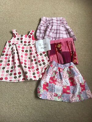Girls Skirts And Dress Bundle Next Zara M&S Age 18-24 Minths 1.5 - 2 Years