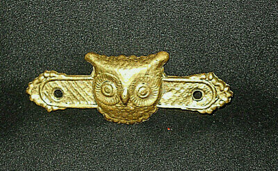"Antique Solid Brass ""Owl"" Furniture Embellishment"