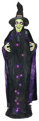 Life Size Animated Hanging WITCH Halloween Prop HAUNTED HOUSE Decoration Talking