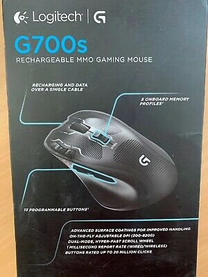 Logitech Gaming Mouse G700S USB Wireless 8200 dpi Laser Rechargeable