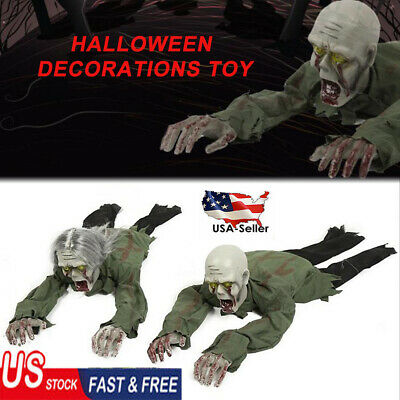Horror Halloween Electric Crawling Zombie Ghost Toy Haunted House Decor Prop AE
