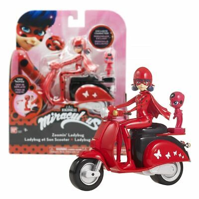 """Miraculous Zoomin' Ladybug in Scooter 15cm 5.5"""" Includes Exclusive Action Figure"""
