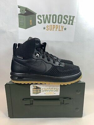 YOUTH NIKE LUNAR Force 1 Duckboot All Weather Boots Black