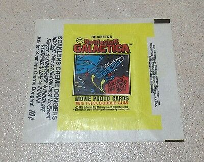 1978 Scanlens 'Battlestar Galactica' Trading Cards - Wax Pack Wrapper