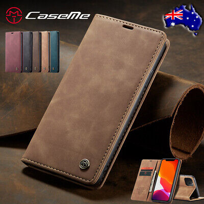 For iPhone 11 Pro Max 8/7/6s Xr Xs Magnetic Leather Case Flip Wallet Card Cover