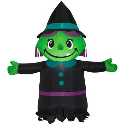 3.5 ft. Pre-lit Inflatable Airblown Witch