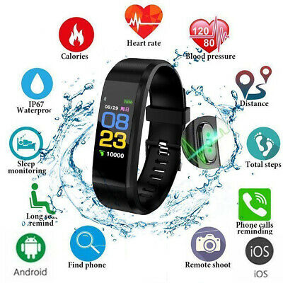 Fitness Smart Watches Activity Tracker Heart Rate Women Men Kids For Android iOS