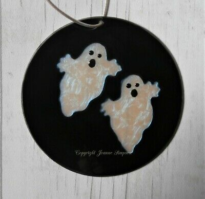 Halloween Ghost sun catcher. Hand painted and personalised
