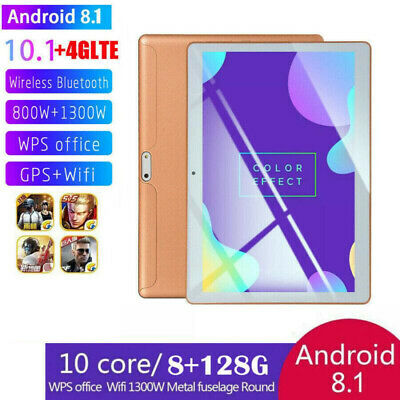 10.1'' Tablet Android 8.1 Bluetooth PC 8+128G 2 SIM GPS Smartphone WIFI Pad