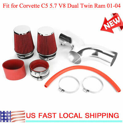 Filter BCP RED 97-00 Corvette C5 5.7 V8 Dual Twin Air Intake System