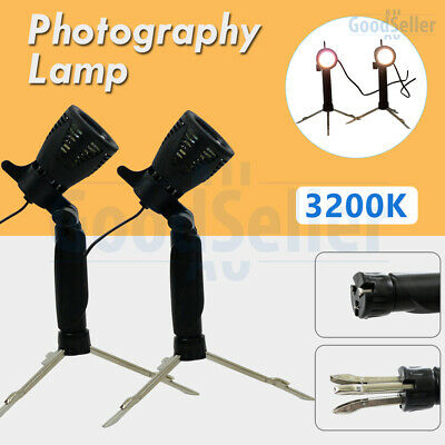 2pcs 50W 3200K Light Halogen Lamp Bulb Stand For Photo Studio Video Softbox Tent