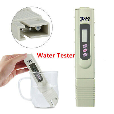 Digital TDS Meter Water Quality Purity Tester Electric TEMP PPM Test Filter Pen