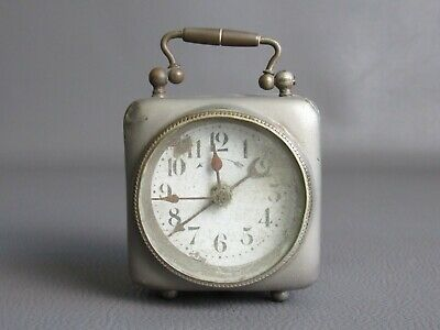 Antique Alarm Clock Travel Watch Mechanical for Restoration Period 1800