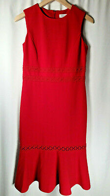 Women's SIZE 4 Calvin Klein Dress RED | Brand NEW womens s small Chirstmas
