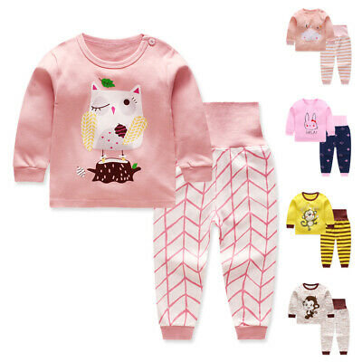 2pcs For Kids /Baby Boys Girls Clothes Cotton Children Pajamas Cute Sleepwear