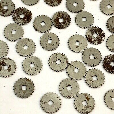 50 Small Gears Steampunk Altered Art Wheels Repair Watch Watchmakers Lot Rust