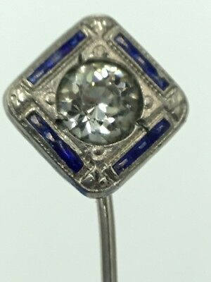 Antique Deco stickpin w Glass Stones